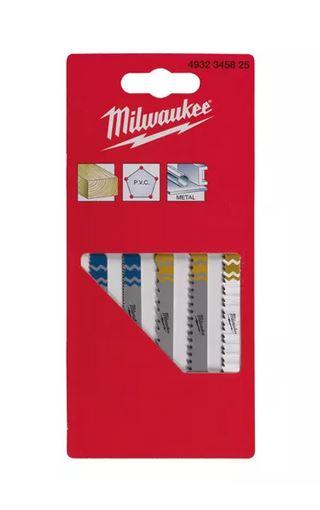 Milwaukee Stichsägeblatt- SET 5 Teilig HOLZ-PVC-METALL