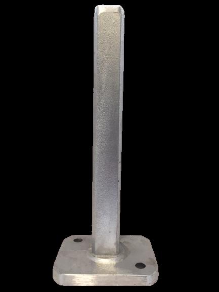 Alu-Aufsteck-Dübelkonsole für Mittelpfahl 38 mm