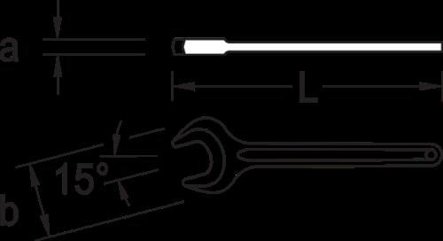 GEDORE Einfachgabelschlüssel