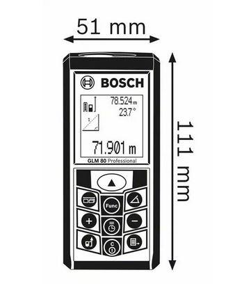 Bosch Laser Entfernungsmesser GLM 80