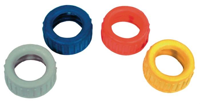 Gummischutzkappen für Manometer blau