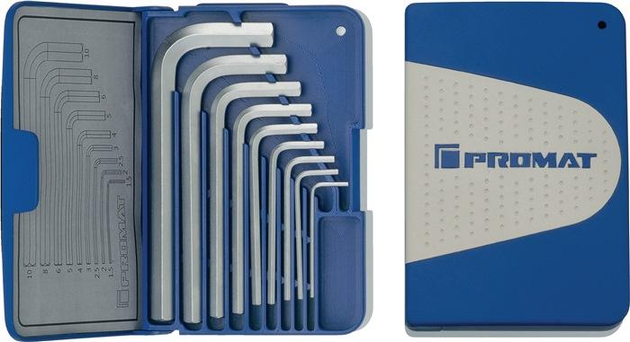 PROMAT Inbusschlüsselsatz 1,5-10 mm 8-teilig