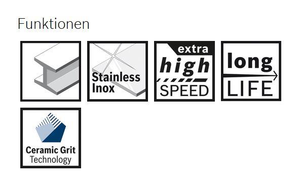 Bosch Fiberscheibe X-LOCK 125 mm METALL/INOX