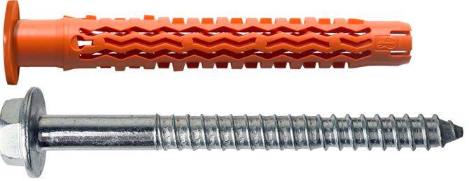 Mungo MQLK-STB Universal-Fassadendübel mit Kragen und Bund-Schraube 1060308