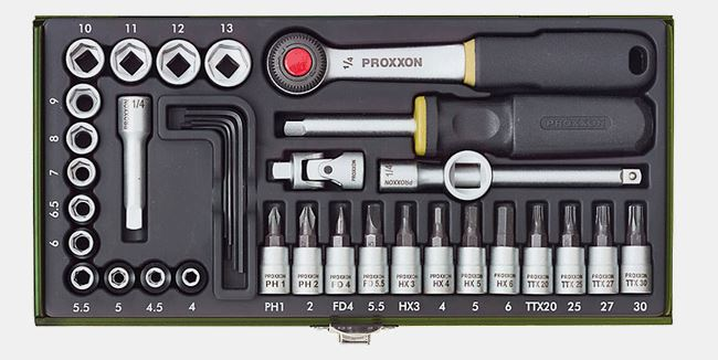 """PROXXON Steckschlüsselsatz 1/4"""" 36-teilig"""