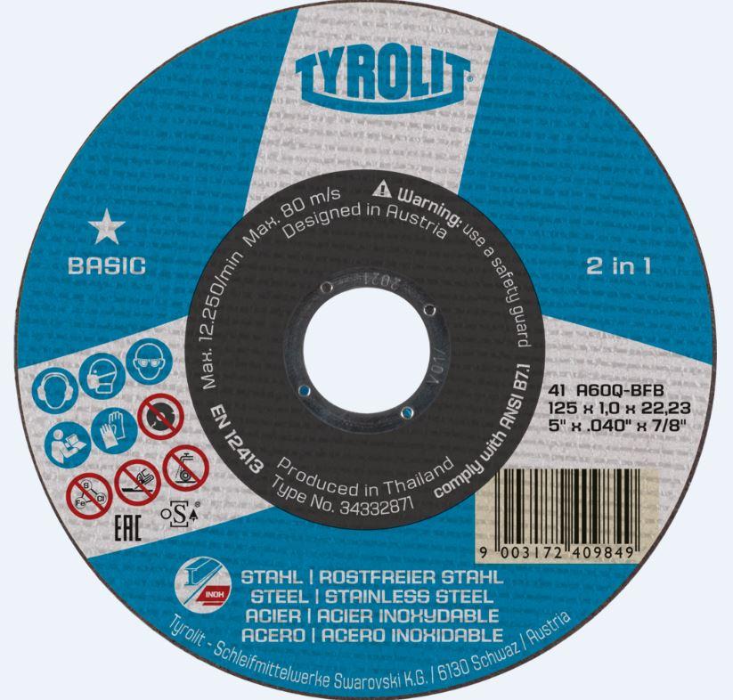 Tyrolit Trennscheibe METALL/NIRO BASIC 2 in 1